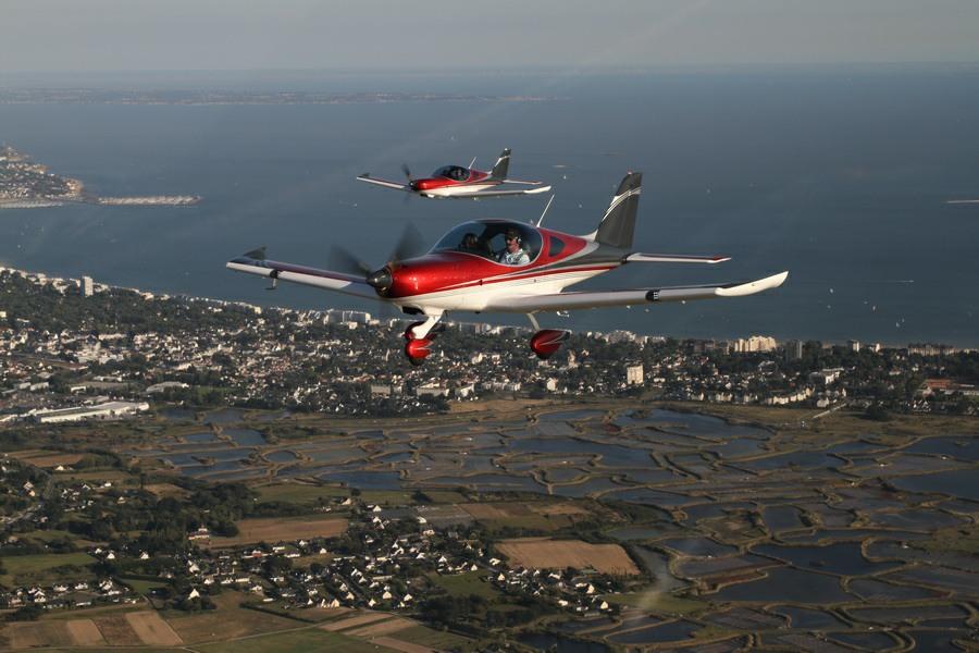 Vol 1 er lachés, ecole de pilotage, brevet, Loite Atlantique